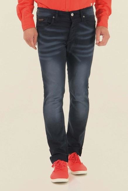 Jack & Jones Dark Blue Lightly Washed Jeans
