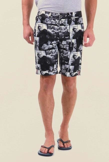 Jack & Jones Black Printed Shorts