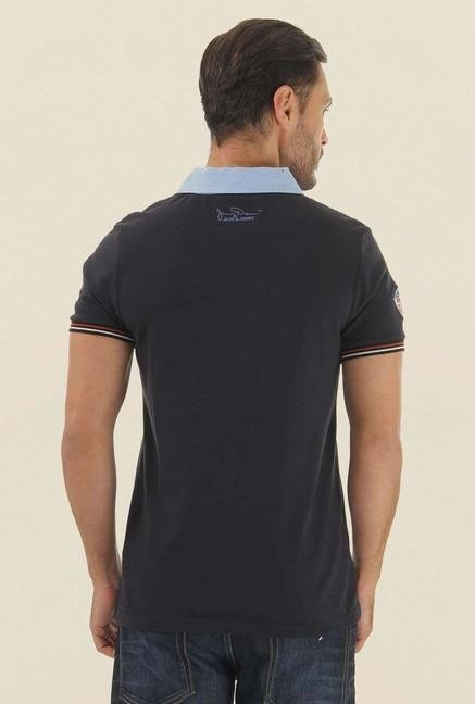 Jack & Jones Dark Grey Solid Polo T-Shirt