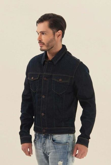 Jack & Jones Navy Blue Denim Casual Jacket
