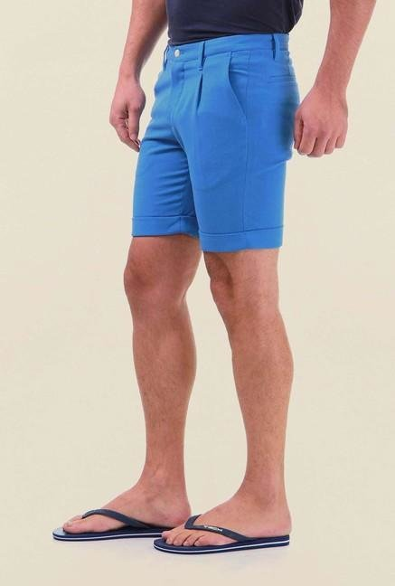 Jack & Jones Dark Blue Solid Shorts