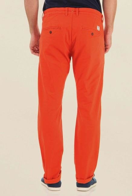 Jack & Jones Orange Cotton Chinos