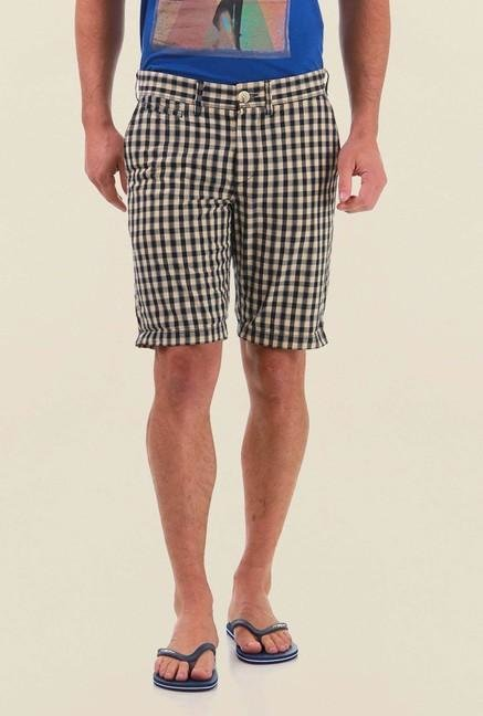 Jack & Jones Beige Checks Shorts