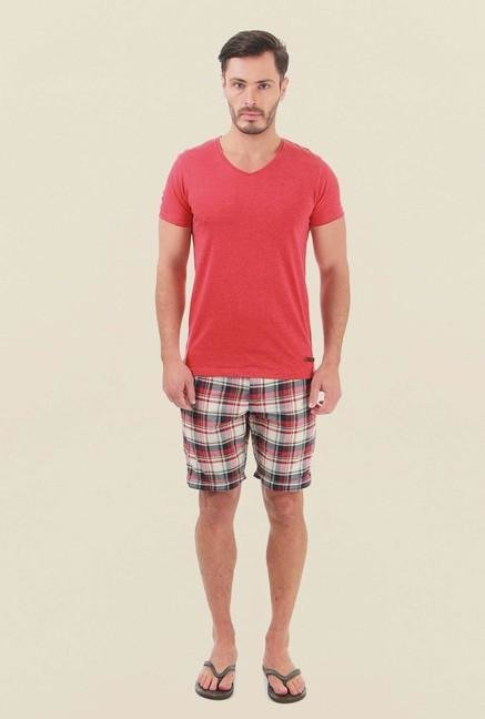 Jack & Jones Red Checks Shorts