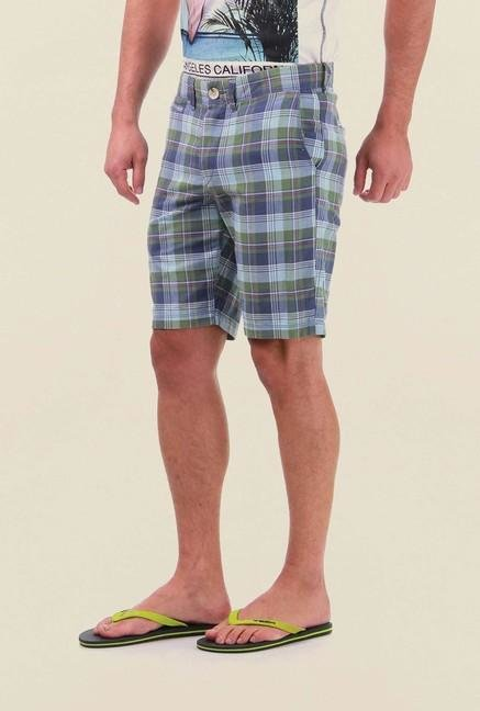 Jack & Jones Blue Checks Shorts