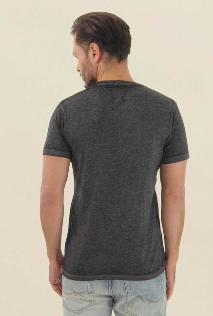 Jack & Jones Dark Grey Printed T-Shirt