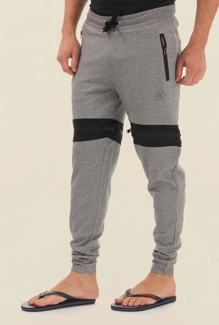 Jack & Jones Grey Solid Sweat Pants