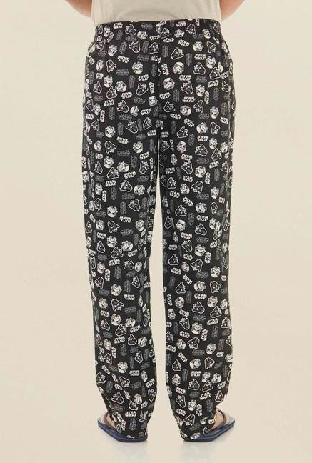 Jack & Jones Black Printed Pyjama