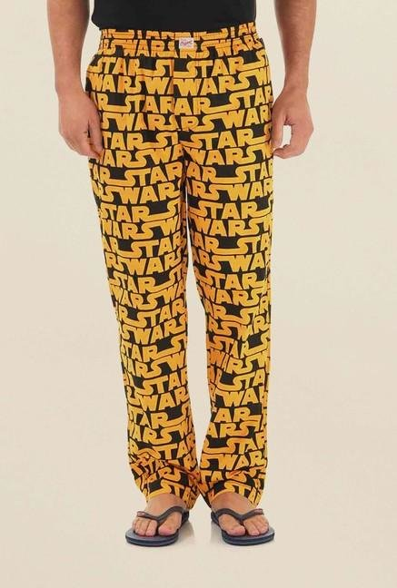 Jack & Jones Yellow Printed Pyjama