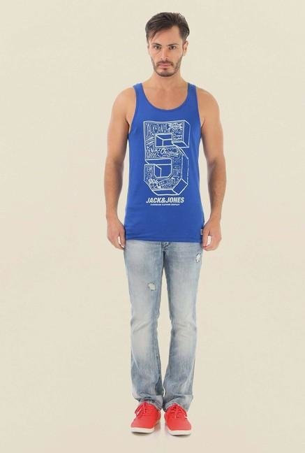 Jack & Jones Blue Printed Vest