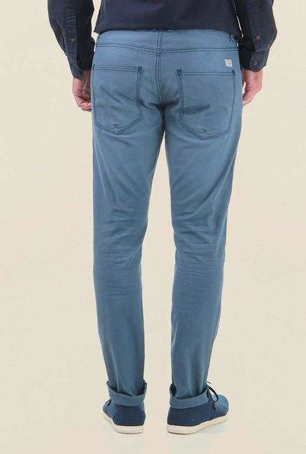 Jack & Jones Blue Cotton Chinos