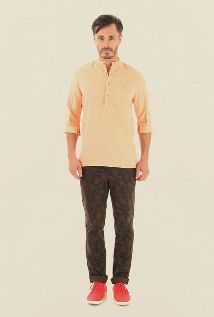Jack & Jones Brown Cotton Chinos