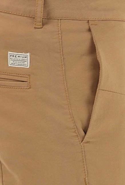 Jack & Jones Beige Cotton Chinos