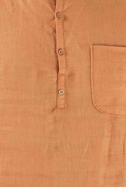 Jack & Jones Orange Slim Fit Casual Shirt