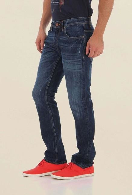 Jack & Jones Dark Blue Mid Rise Jeans