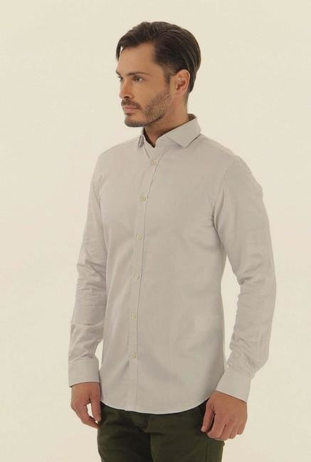 Jack & Jones Beige Cotton Casual Shirt