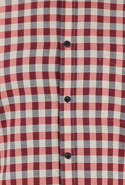 Jack & Jones Pink Checks Casual Shirt