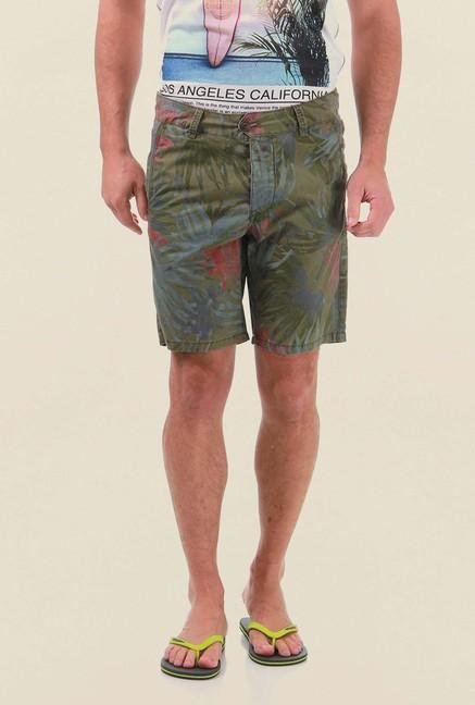 Jack & Jones Dark Green Printed Shorts