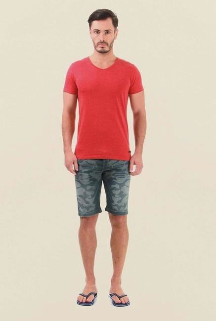 Jack & Jones Blue & Grey Printed Shorts