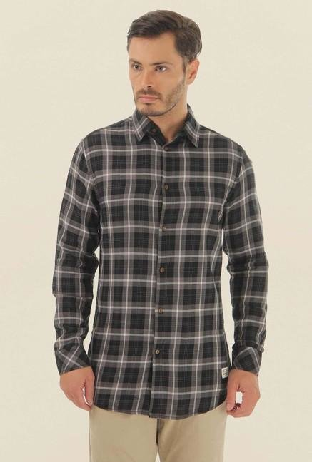 Jack & Jones Black Checks Casual Shirt