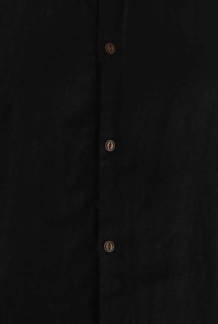 Jack & Jones Black Solid Casual Shirt