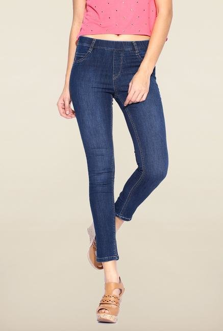 Kraus Blue Ankle Length Skinny Fit Jeans