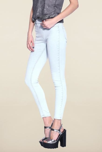 Kraus Ice Blue Ankle Length Jeans