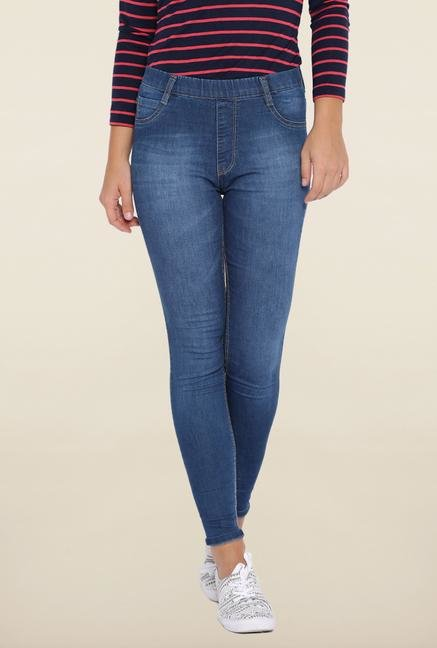 Kraus Blue Skinny Fit Ankle Length Jeans