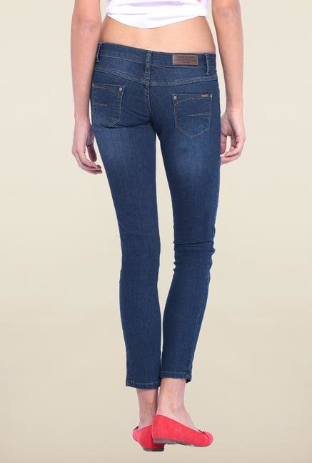 Kraus Blue Low Rise Ankle Length Jeans