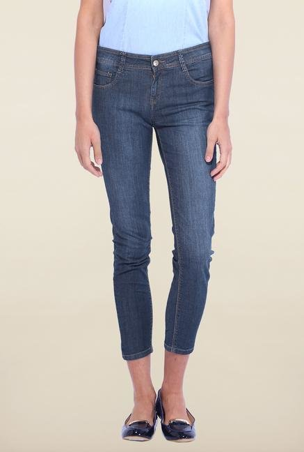 Kraus Navy Skinny Fit Mid Rise Jeans