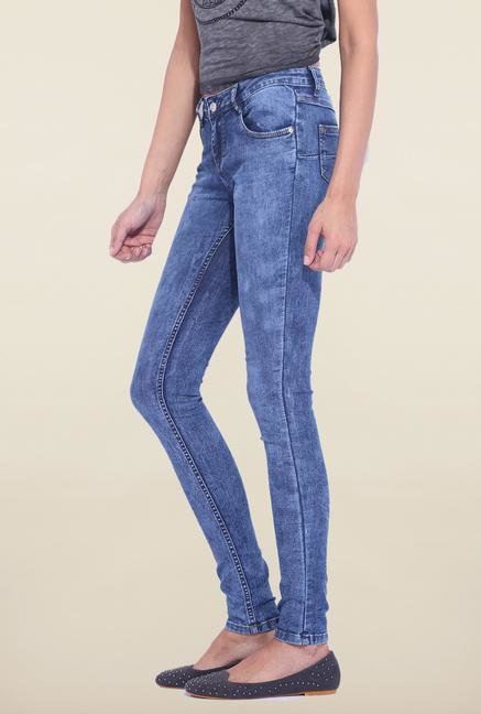 Kraus Blue Skinny Fit Mid Rise Jeans
