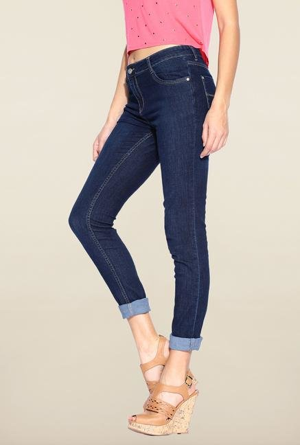 Kraus Blue Rinse Washed Skinny Fit Jeans