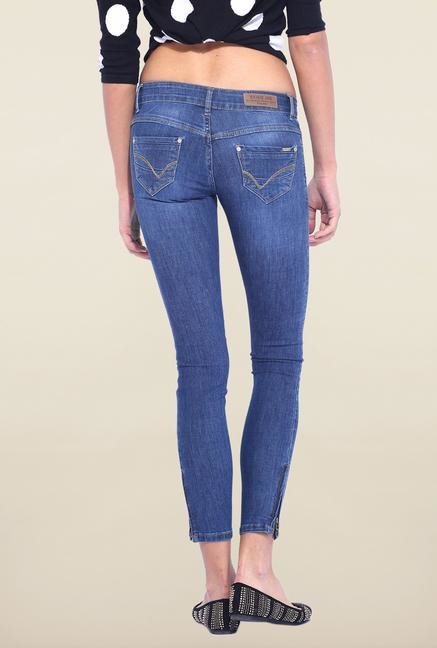 Kraus Blue Mid Rise Skinny Fit Jeans