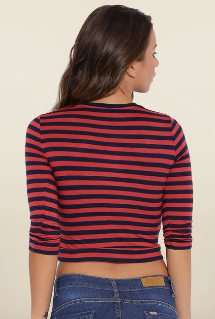 Kraus Blue And Red Striped T-Shirt