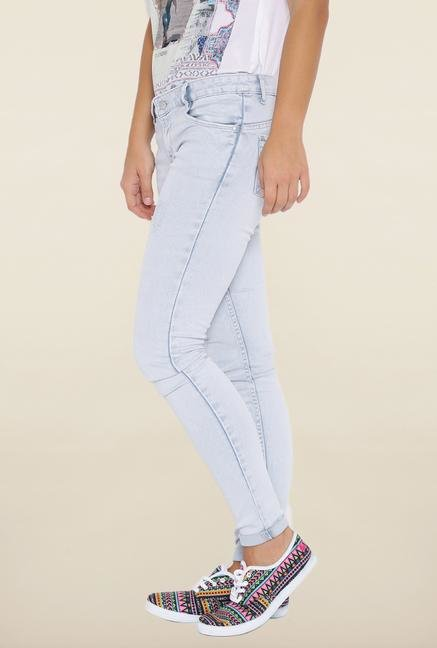 Kraus Light Blue Distressed Jeans