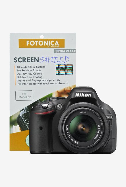 Fotonica Ultra Clean Screen Shield for Nikon D5200 DSLR