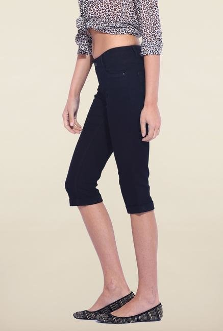 Kraus Black Cotton Capri