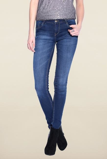 Kraus Blue Skinny Fit Lightly Washed Jeans