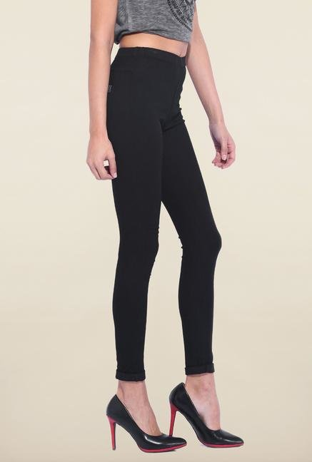 Kraus Black Cotton Legging