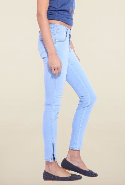 Kraus Light Blue Ankle Length Raw Denim Jeans