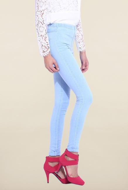 Kraus Light Blue Cotton Legging