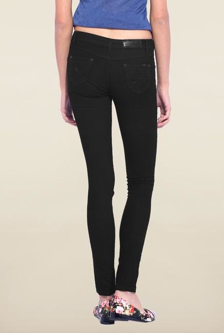 Kraus Black Skinny Fit Raw Denim Jeans
