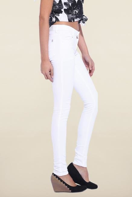 Kraus White Skinny Fit Jeans