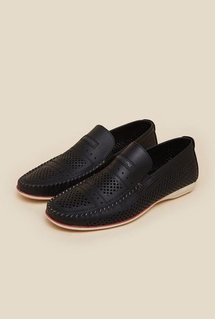 Red Tape Black Loafers