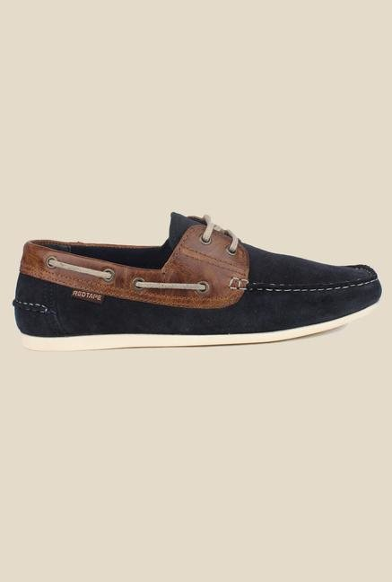 Red Tape Navy Loafers
