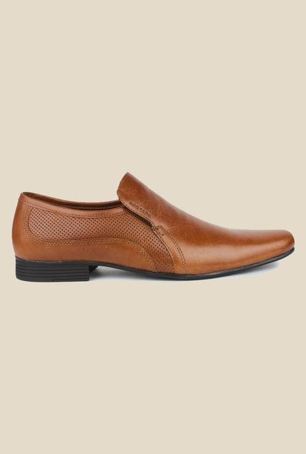Red Tape Tan Slip-on Formal Shoes