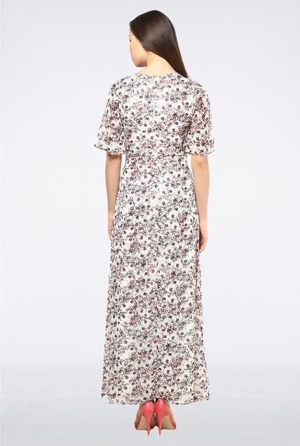 Femella White Printed Maxi Dress