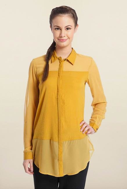 Only Turmeric Solid Casual Shirt