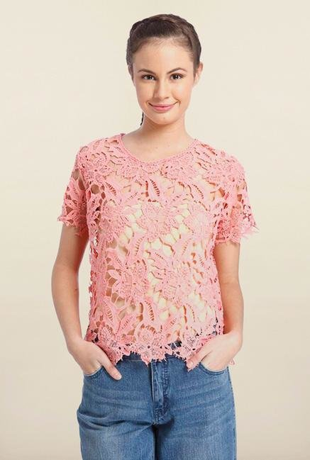 Only Pink Round Neck Top