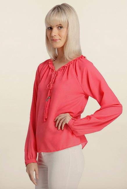 Vero Moda Rouge Red Solid Top